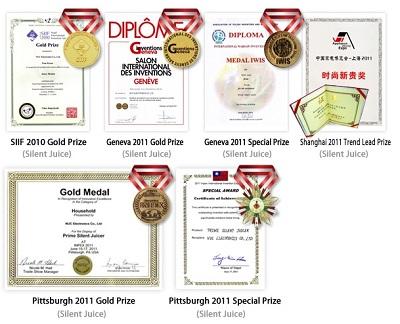 Kuvings B6000S apdovanojimai