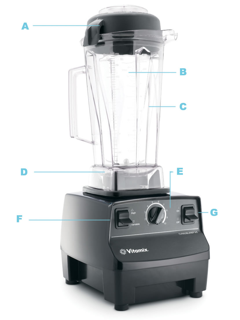 Vitamix blenderis juodas