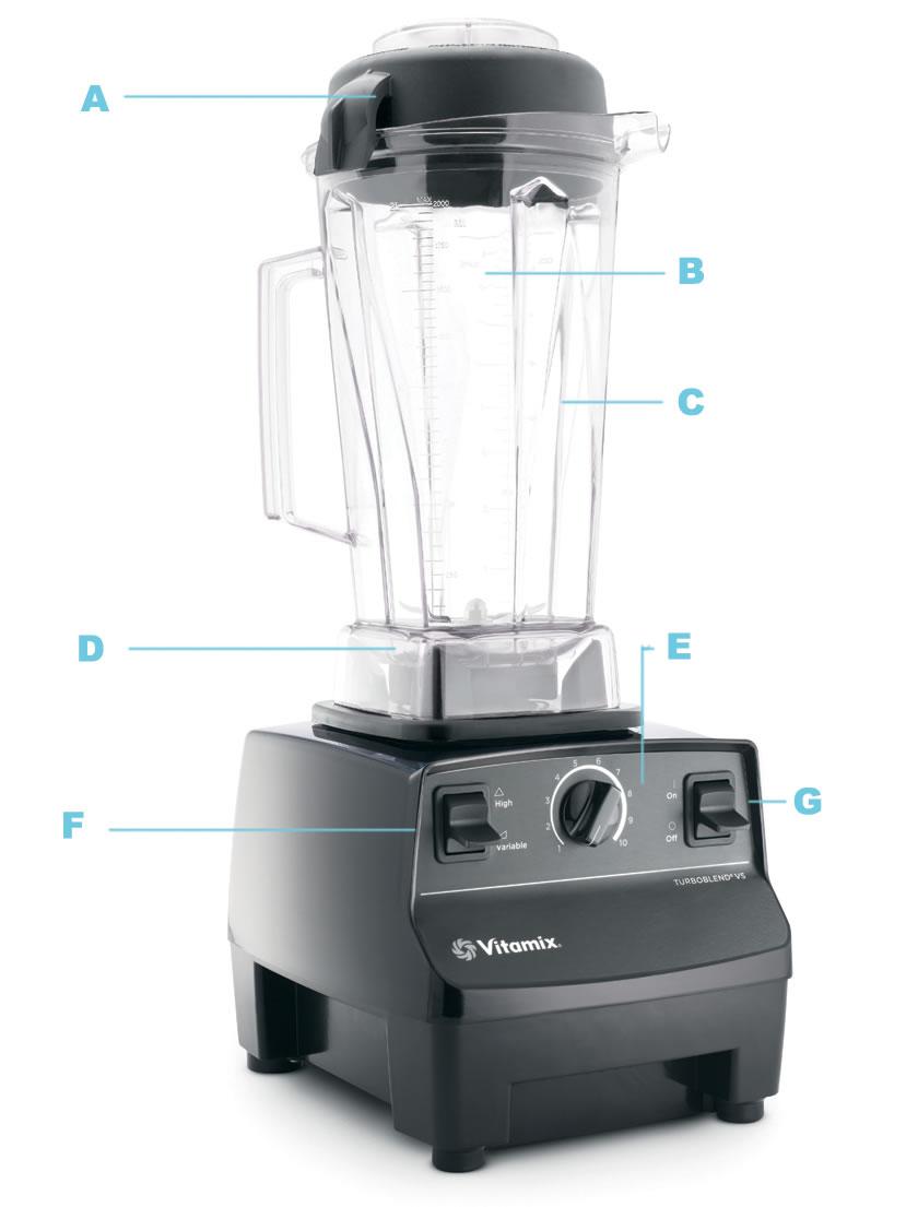 blenderis Vitamix TNC 5200 - juodas